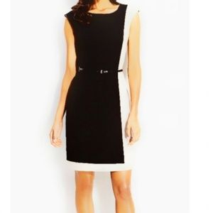 Calvin Klein Sleeveless Colorblock Belt Dress 1674